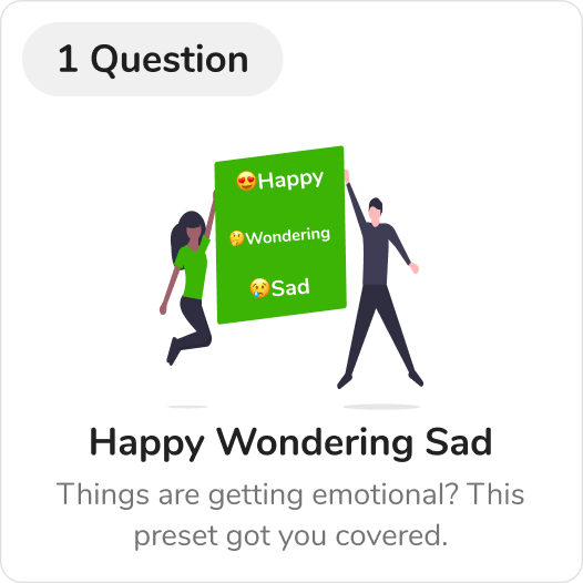 HappyWonderingSad_RetroTheme